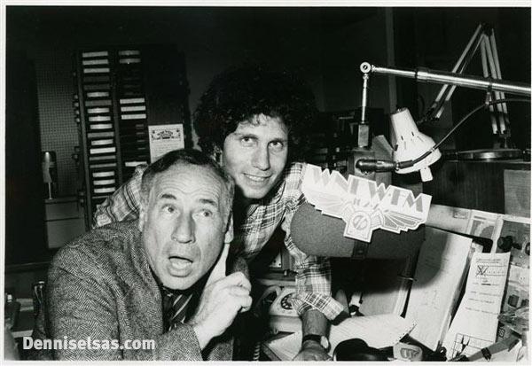 Dennis Elsas with Mel Brooks