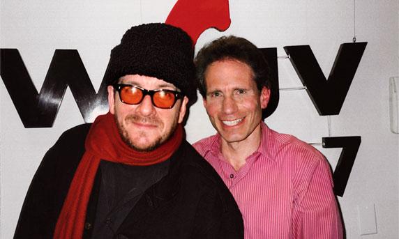 Dennis Elsas with Elvis Costello