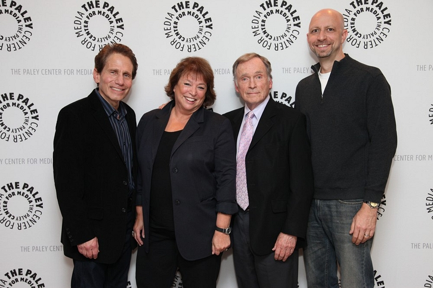 Dennis Elsas with Susan Lacy, Dick Cavett and Michael Epstein at the LENNONYC Paley Center premiere