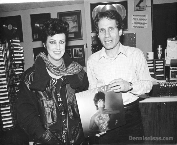 Dennis Elsas with Grace Slick