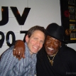 Dennis Elsas with Clarence Clemons