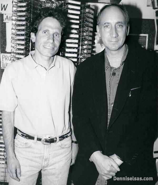 Dennis Elsas with Pete Townshend