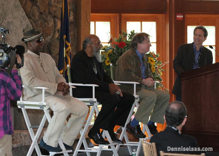 Dennis Elsas speaks at the Museum at Bethel Woods