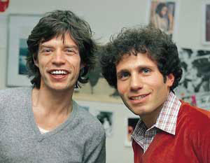 Mick Jagger and Dennis Elsas